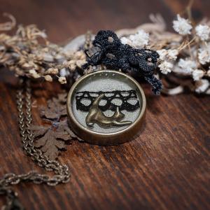 collier cercle resine bronze