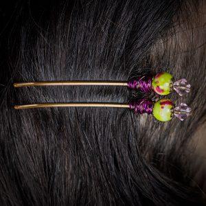 epingles a cheveux barrettes metal perle