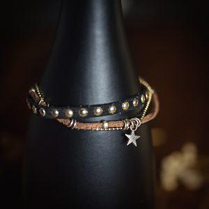 bracelet suedine etoile cordon aimant