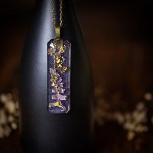 collier resine fleur séchée fée